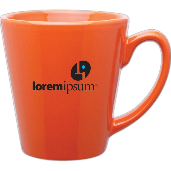 Orange - Glossy Ceramic, Mini Latte Mug, 13 Oz Photo