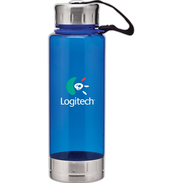 H2go (r) Fusion - Blue - 23 Oz Single Wall (bpa Free) Acrylic Bottle, Threaded Lid With Stainless Accents Photo