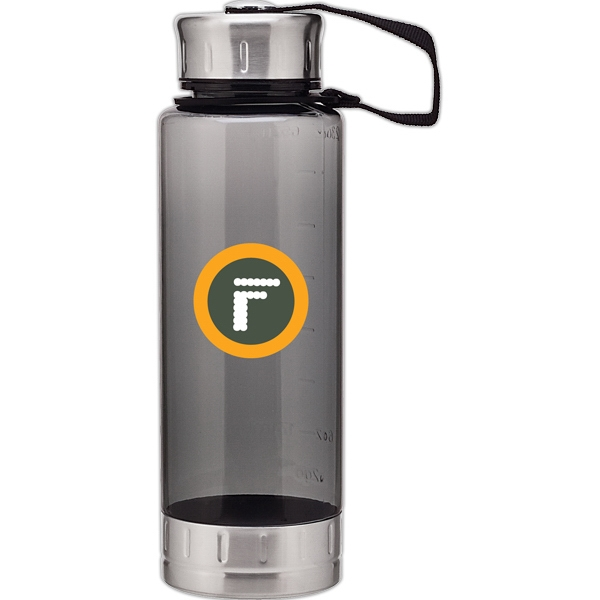 H2go (r) Fusion - Graphite - 23 Oz Single Wall (bpa Free) Acrylic Bottle, Threaded Lid With Stainless Accents Photo