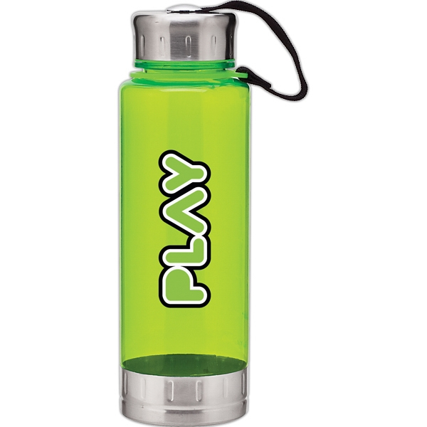 H2go (r) Fusion - Lime - 23 Oz Single Wall (bpa Free) Acrylic Bottle, Threaded Lid With Stainless Accents Photo