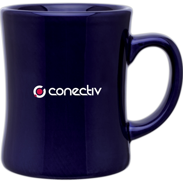 Luna - Cobalt Blue - Glossy Ceramic Mug With C Handle, 14 Oz Photo