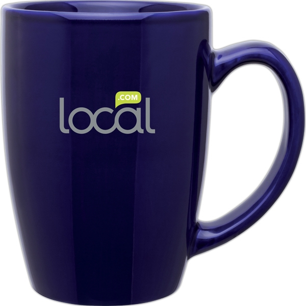 Contour - Cobalt Blue - Glossy, Stoneware Mug, 14 Oz Photo