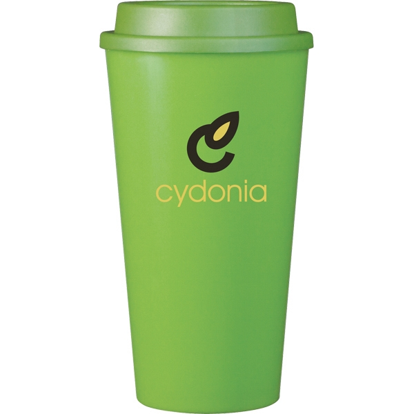 Cup2go (r) - Apple - 16 Oz Double Wall Polypropylene Cup With Threaded Lid Photo