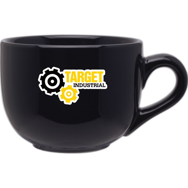 Jumbo - Black - Large Ceramic Mug With Handle And A Glossy Finish, 16 Oz Photo