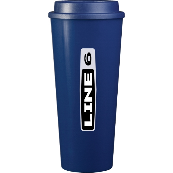 Cup2go (tm) - Blue - 20 Oz Double Wall Polypropylene Cup With Threaded Lid Photo