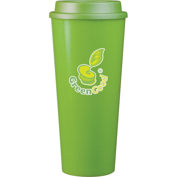 Cup2go (tm) - Apple - 20 Oz Double Wall Polypropylene Cup With Threaded Lid Photo