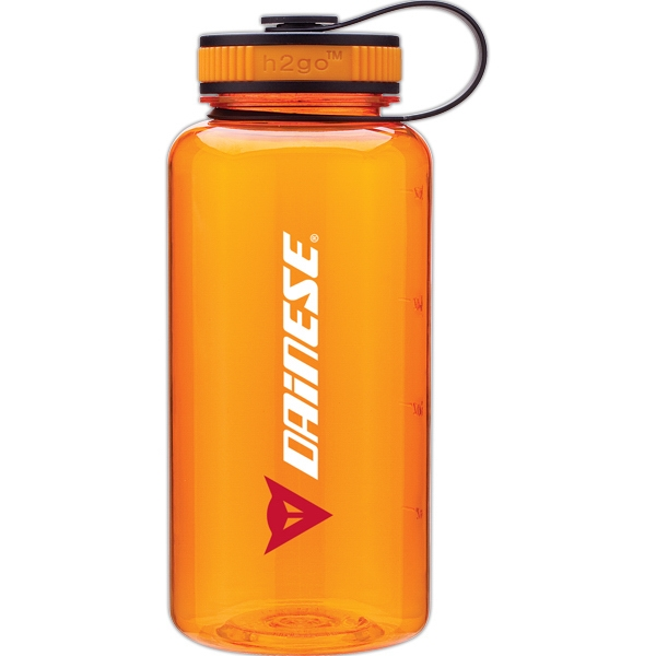 H2go (r) Wide - Tangerine - 34 Oz Single Wall (bpa Free) Eastman Tritan Copolyester Bottle With Two-tone Lid Photo