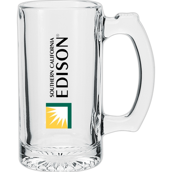 Clear Glass Beer Mug, 12.5 Oz Photo
