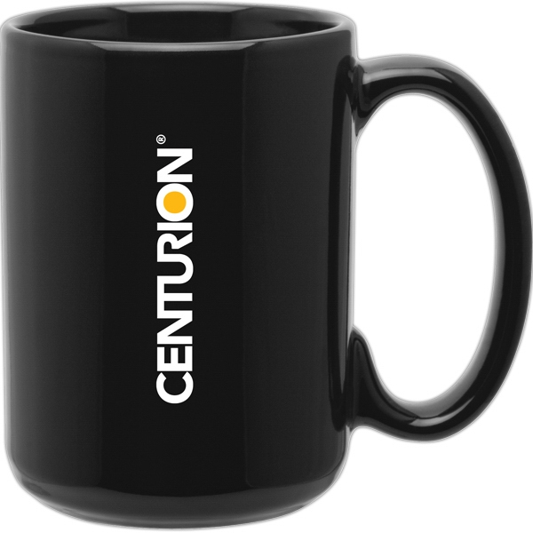 Grande (tm) - Black - Glossy Ceramic Mug With C-handle, 15 Oz Photo