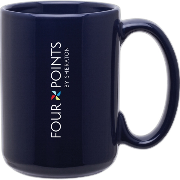 Grande (tm) - Navy - Glossy Ceramic Mug With C-handle, 15 Oz Photo