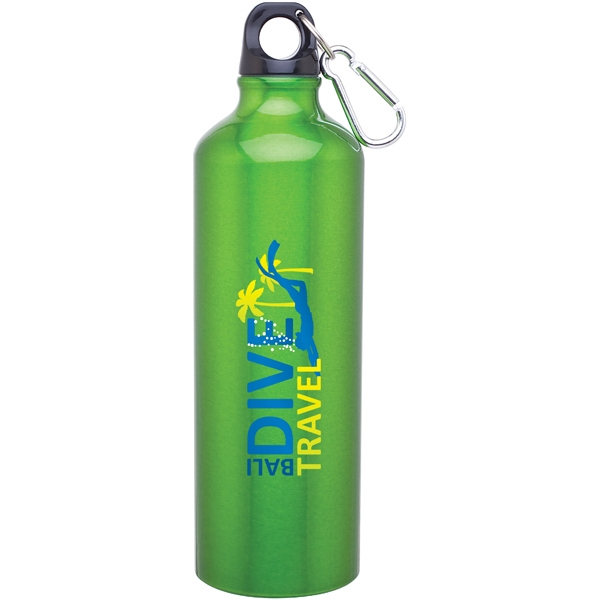 H2go (r) Classic - Apple - 24 Oz Aluminum Single Wall Water Bottle With Threaded Lid, Carabiner Included Photo