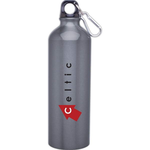 H2go (r) Classic - Graphite - 24 Oz Aluminum Single Wall Water Bottle With Threaded Lid, Carabiner Included Photo