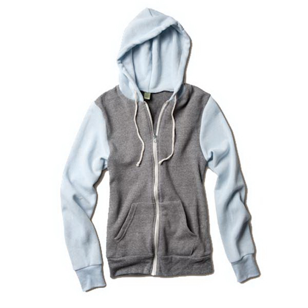Rocky -  X S- X L - Unisex Color-blocked Eco-fleece Zip Hoodie Photo