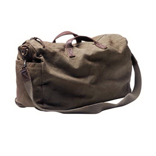 Weekender - Unisex Cotton Canvas Bag With Leather Trim Photo