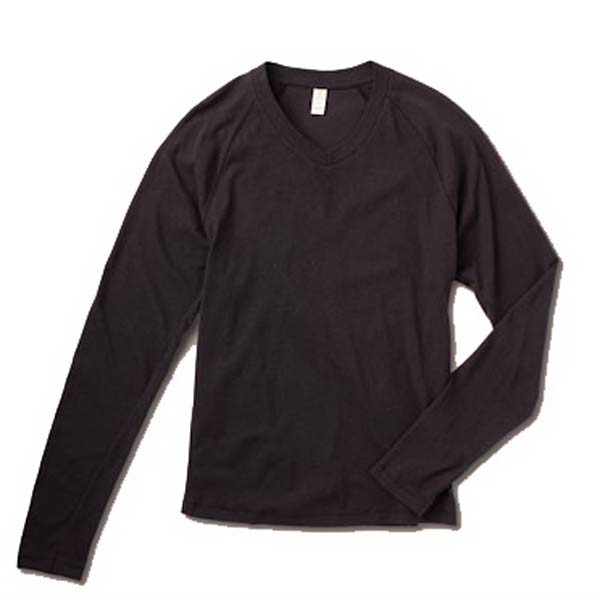 S- X L - Men's Long Sleeve Raglan V-neck Photo