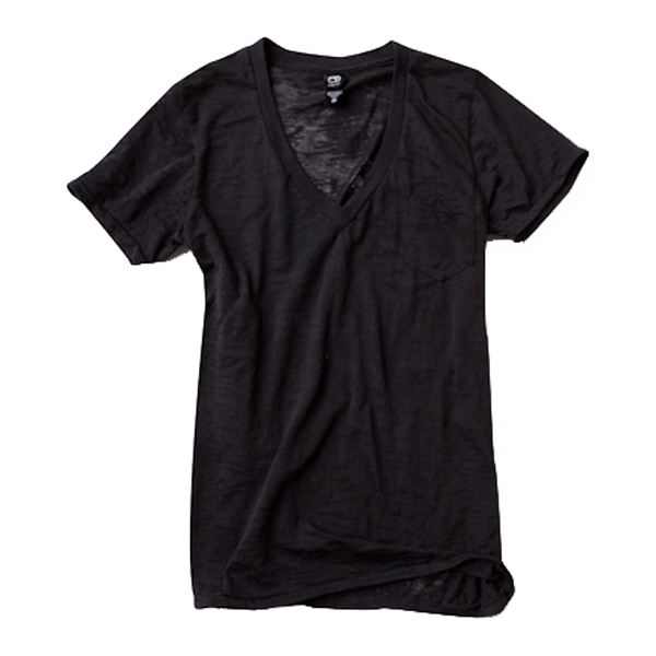 X S- X L - Unisex Burnout Deep V-neck Pocket T-shirt Photo
