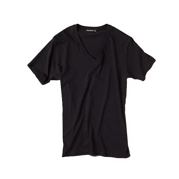 S- X L - Men's Perfect Rib V-neck T-shirt Made Of 100% Pima Cotton Photo
