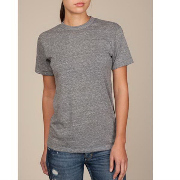 Eco Gray  X  X S- X L - Unisex Eco-heather Crew Tee Photo