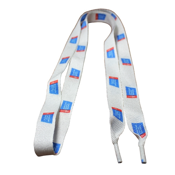"Shoelaces (Pair) 45""x1/2"" Standard Polyester Dye Sublimated"