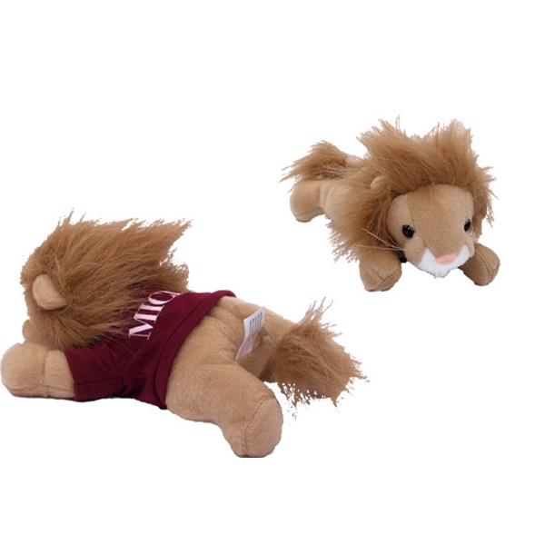 "8"" Lion with T-shirt and One Color Imprint"