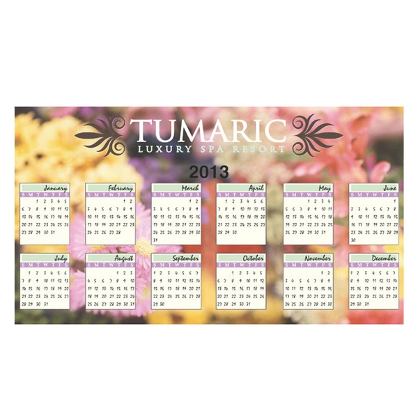 30 Mil. - Large Calendar Magnet Made From Recycled, Flexible Magnet Sheets Photo