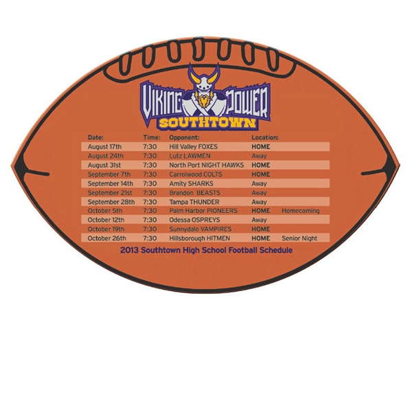 Football and Rectangle Schedules