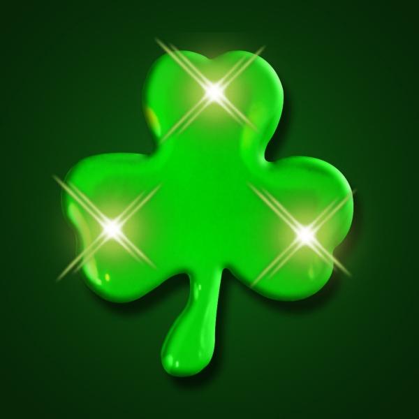 Blinky Green Shamrock Lights