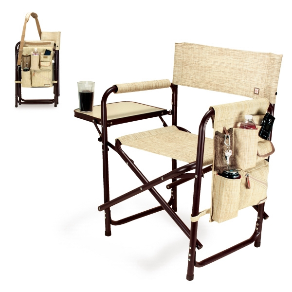 Botanica - Folding Chair With Fold-out Side Table, Side Pockets, And Insulated Drink Holder Photo