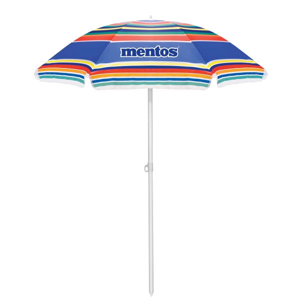 Multi-color Striped Umbrella With Tilt Feature Photo