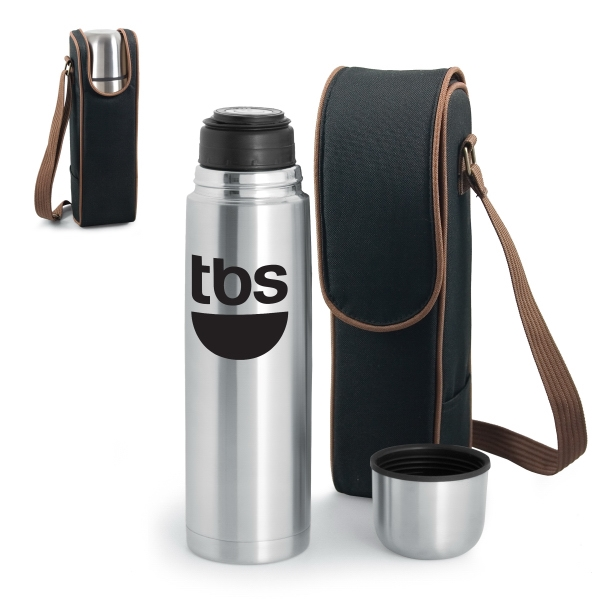 Kona Express - Coffee Or Tea Duffel With 24 Oz. Vacuum Flask And Adjustable Shoulder Strap Photo