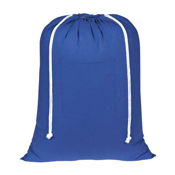 Wash Me - Royal Blue - Silkscreen - Laundry Bag Made Of 100% Cotton With Front Pocket Photo