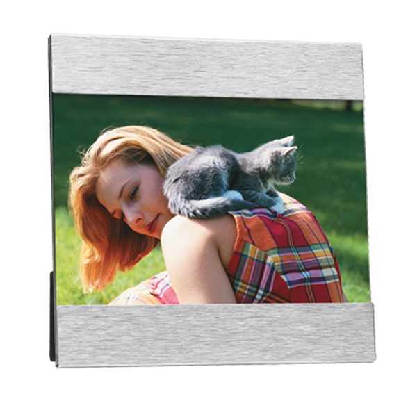 "Aluminum Photo Frame, 6"" X 6"", Holds 4 X 6 Photo Photo"