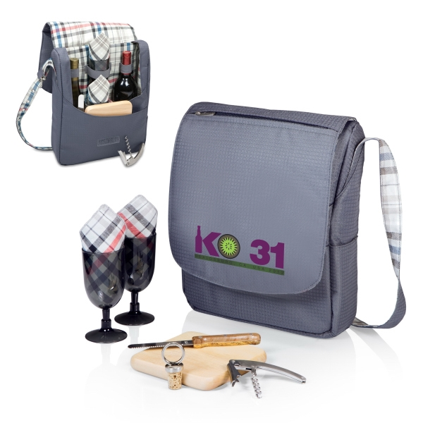 Carnaby Street Collection Britannia - Insulated Two-bottle Wine Tote/cooler With Wine & Cheese Service For Two Photo