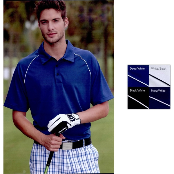 Adidas Golf ClimaLite (R) Piped Polo