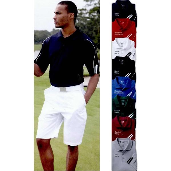 Adidas Golf ClimaLite (R) 3-Stripe Cuff Polo