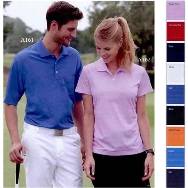 Adidas Gold ClimaLite (R) Ladies Textured Sleeve Sport Shirt
