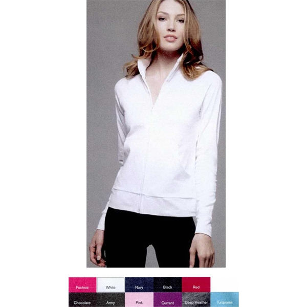 Bella + Canvas (r) - Neutral S- X L - Ladies' 6.5 Oz. 95% Cotton/5% Spandex Colored Cadet Jacket. Blank Product Photo