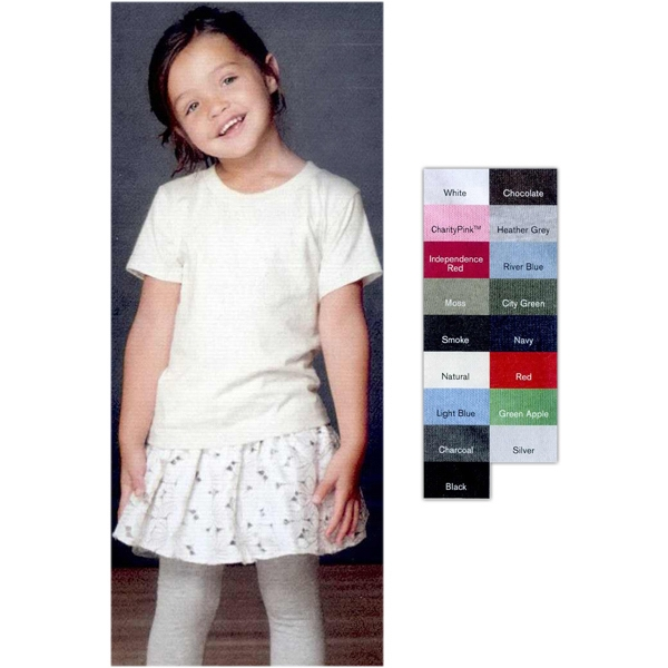 Anvilorganic (r) - Colors 2t-4t - 100% Ringspun Certified Organic Cotton Toddler Short Sleeve T-shirt. Blank Product Photo
