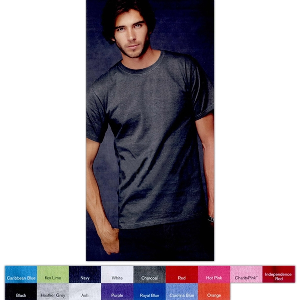 Anvil (r) - Colors S- X L - Adult 6.1 Oz., Preshrunk 100% Cotton Heavyweight T-shirt. Blank Product Photo