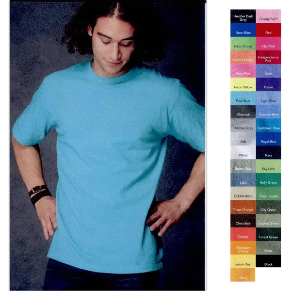Anvil (r) - Colors S- X L - Adult Heavyweight T-shirt With Double-needle Stitching Throughout. Blank Product Photo