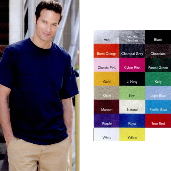 Fruit Of The Loom (r) Hd Lofteez (tm) - Heathers 4 X L - Thick And Soft Cotton T-shirt, New High-density Fabric. Blank Product Photo