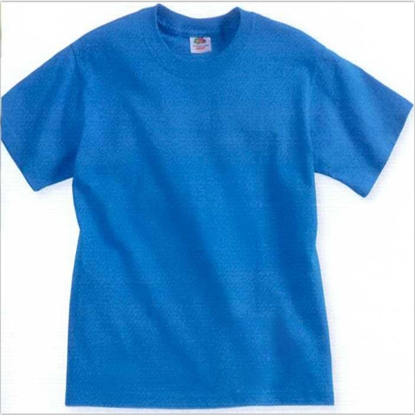 Fruit Of The Loom (r) - Neutrals - Youth 5.0 Oz., Pre-shrunk 100% Cotton T-shirt. Blank Product Photo