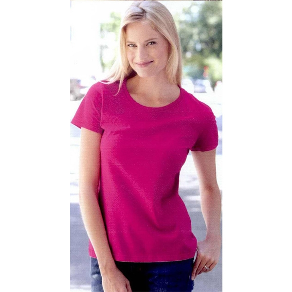 Fruit Of The Loom (r) - Heathers S- X L - Ladies' Short Sleeve T-shirt. 5.0 Oz., Pre-shrunk 100% Cotton. Blank Product Photo