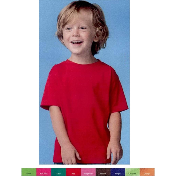Rabbit Skins (r) - Fine Jersey Toddler T-shirt In 100% Combed Ringspun Cotton. Blank Product Photo