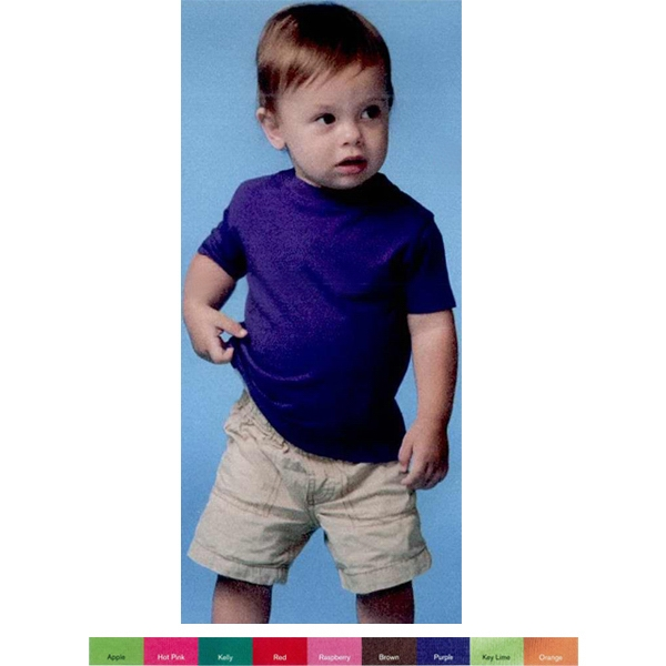 Rabbit Skins (r) - Fine Jersey Infant T-shirt In 100% Combed Ringspun Cotton. Blank Product Photo