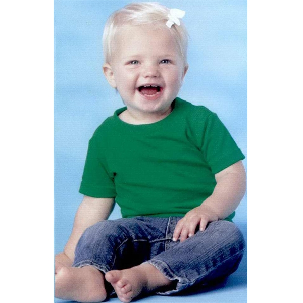 Rabbit Skins - Heathers 6-24mo - Infant Short Sleeve Cotton T-shirt. Blank Product Photo