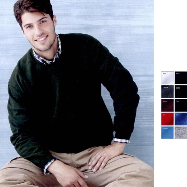 Gildan (r) - Colors S- X L - Premium Cotton/polyester Crewneck Sweatshirt. Blank Product Photo