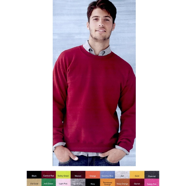 Gildan (r) - S- X L Colors - Crewneck Sweatshirt Made Of 9.3 Oz. 50% Cotton/50% Polyester. Blank Product Photo