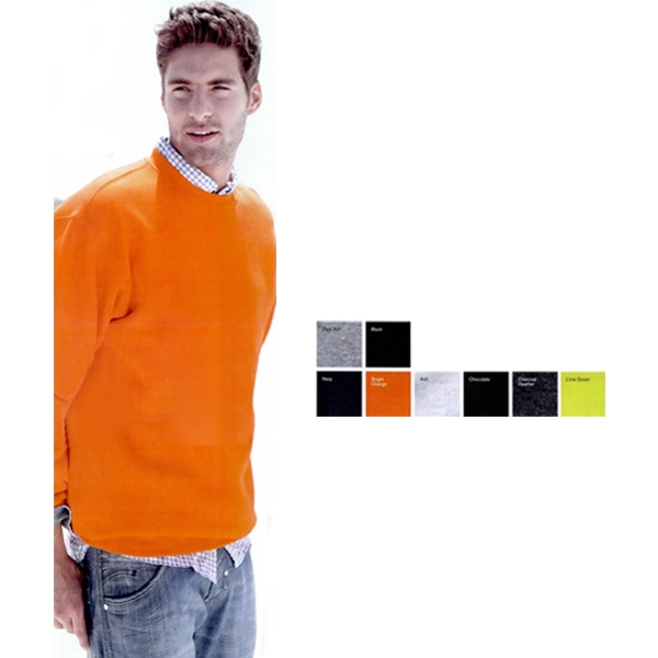 Bayside (tm) - S- X L Colors - Crewneck Sweatshirt. 9.5 Oz. Preshrunk 80% Cotton/20% Polyester. Blank Product Photo