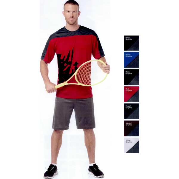 Badger Sport (r) B-dry Core - S- X L - Short Sleeve T-shirt With Moisture Management Performance. Blank Product Photo